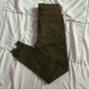 Express Military Green Ankle Legging